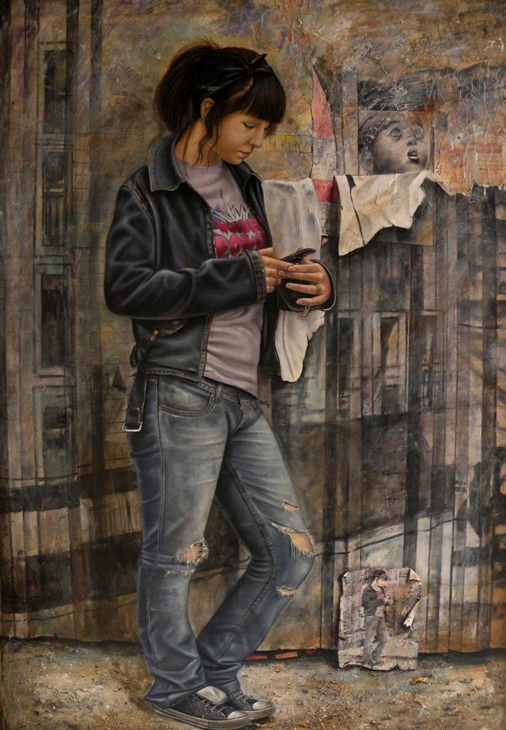 Adolescente 130x81 ricardo renedo es un pintor de la escue flickr - Busco trabajo de pintor en madrid ...