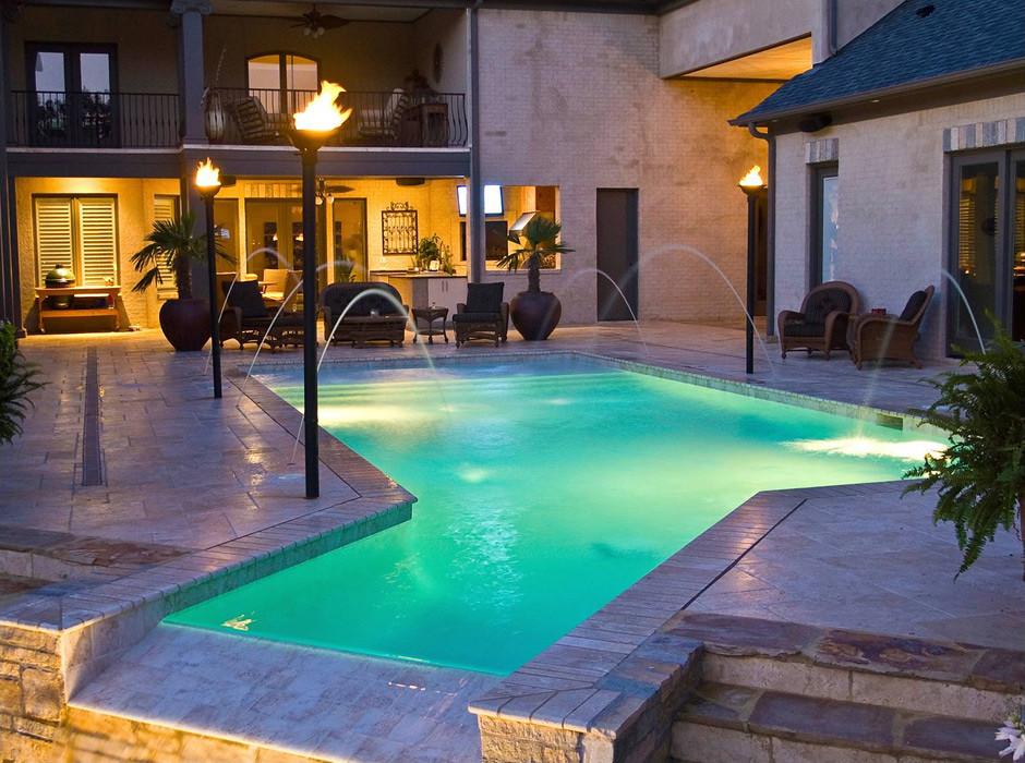 Memphis Pool Traditional Geometric Swimming Pool Getwe Flickr