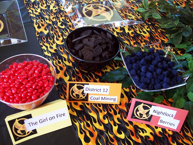 Hunger games party flickr photo sharing for Food bar game