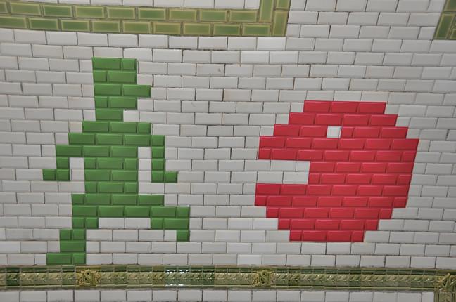 Pacman porte de versailles station m tro ligne 12 pari flickr - Porte de versailles metro ...