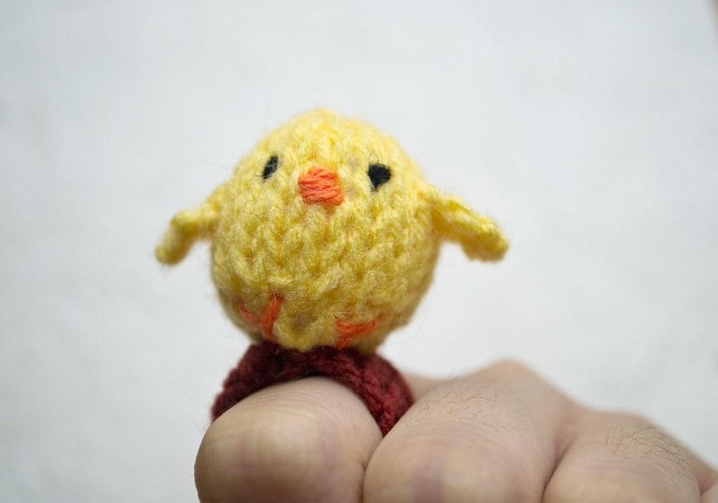 Baby Bird Amigurumi : Momshoo- Baby Bird knitted amigurumi ring Chirp ...