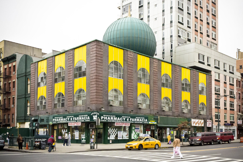 Malcolm shabazz mosque harlem new york city spatial for Architecture jobs nyc