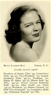 Yearbook photo of Betty Ray McCain, Saint Mary's College, 1950. - 7336355504_834e5faf59_n
