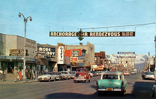 fourth avenue anchorage alaska 1950s | by it's better than bad