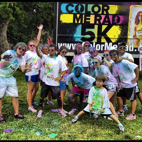 Team ColorMeSLA after the @colormerad5k #colormeradphilly #sla | by christopherl