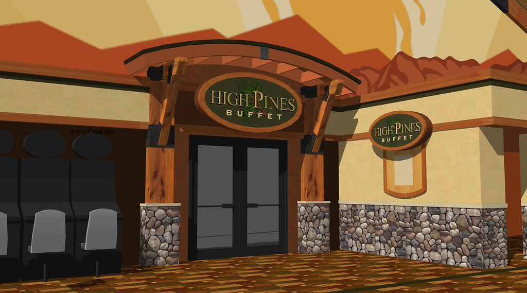 Exterior restaurant design entrance