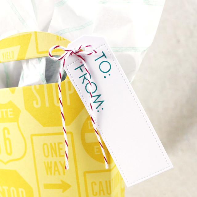 Gift Tote Tag Close Up