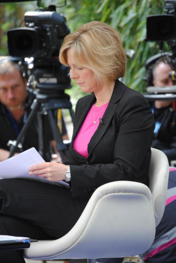 Hazel Irvine Presenting On The Bbc Hazel Irvine Was As