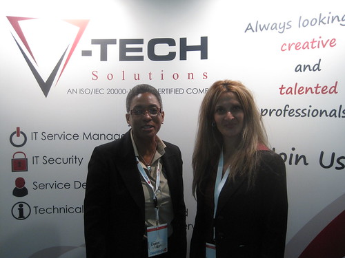 Dianne and Lynna with V-Tech Solutions | by ClearedJobs.Net