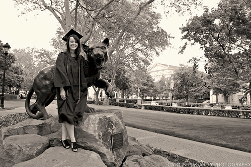 Kristin & The Pitt Panther | by Caitlin Magarity Photography
