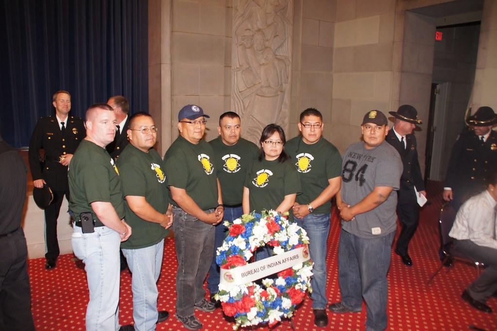 Slain Navajo police Sgt. Darrell Curley's fellow Navajo p ...