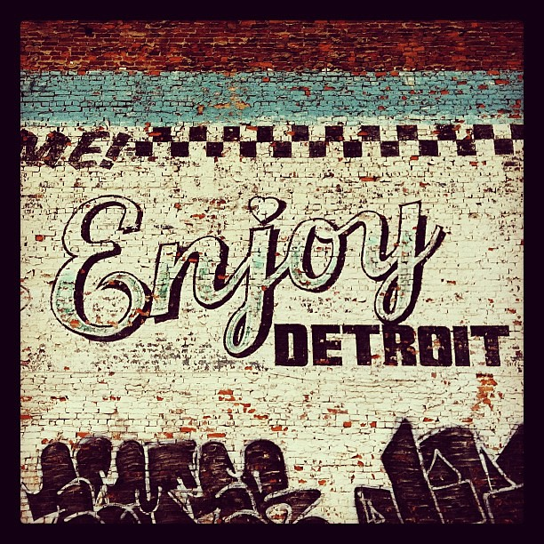 Rip to the enjoy detroit mural it will be missed flickr for Enjoy detroit mural
