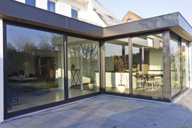 Aluminium woonveranda modern uitbouw keuken woonveranda flickr photo sharing - Veranda modern huis ...