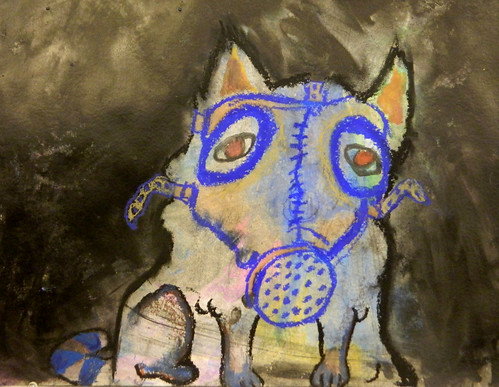 Gas Mask Cat By Alice Morgan, 16 | by Watertown Free Public Library (MA)