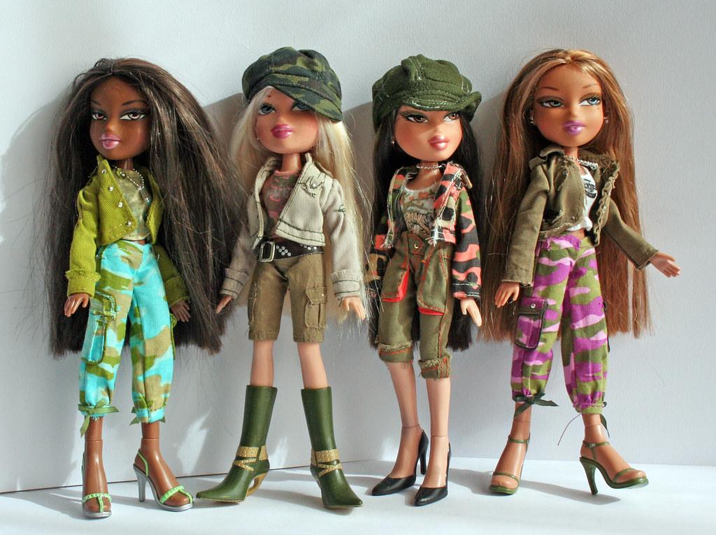 bratz e47a sasha, cloe, jade, yasmin | adventure girlz ...