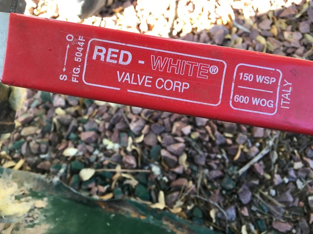 Red white valve flickr photo sharing