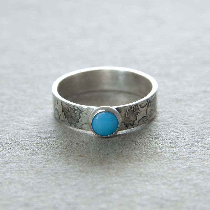 Sterling Silver Turquoise Zuni Ring
