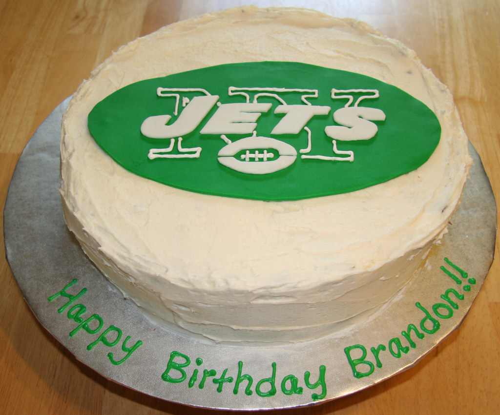 Sensational Ny Jets Cake Ive Never Had So Much Trouble Making A Cake Flickr Funny Birthday Cards Online Amentibdeldamsfinfo