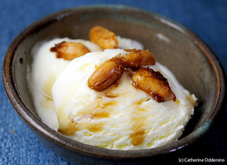sweet corn with cilantro syrup and brown sugar roasted peanuts Luca and Bosco Ice Cream NYC (14) | by yumcat