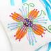 French Lavender Sachet Embroidered Flowers Satin Ribbon