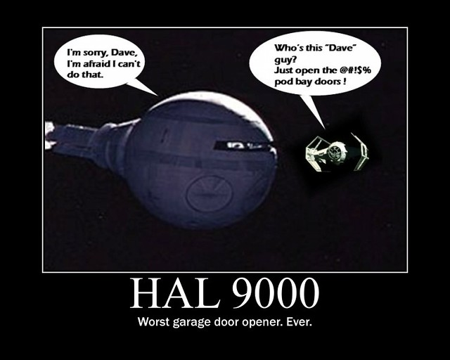 2001 A Space Odyssey Darth Vader Hates The Hal 9000