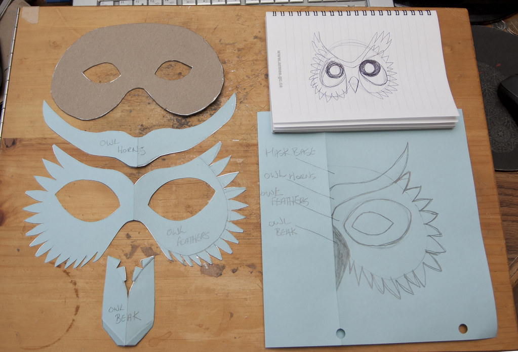 simple owl mask