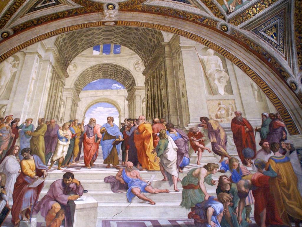 Vatikanische museen stanza della segnatura die schule vo for Grande disposizione della stanza