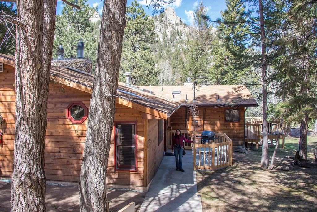a cabin at streamside on fall river estes park colorado