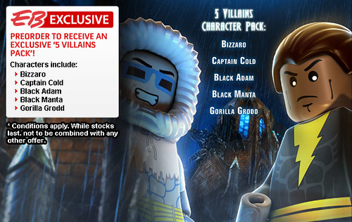 EB Games Offers LEGO Batman 2 'Exclusive 5 Villains Character Pack' | by fbtb