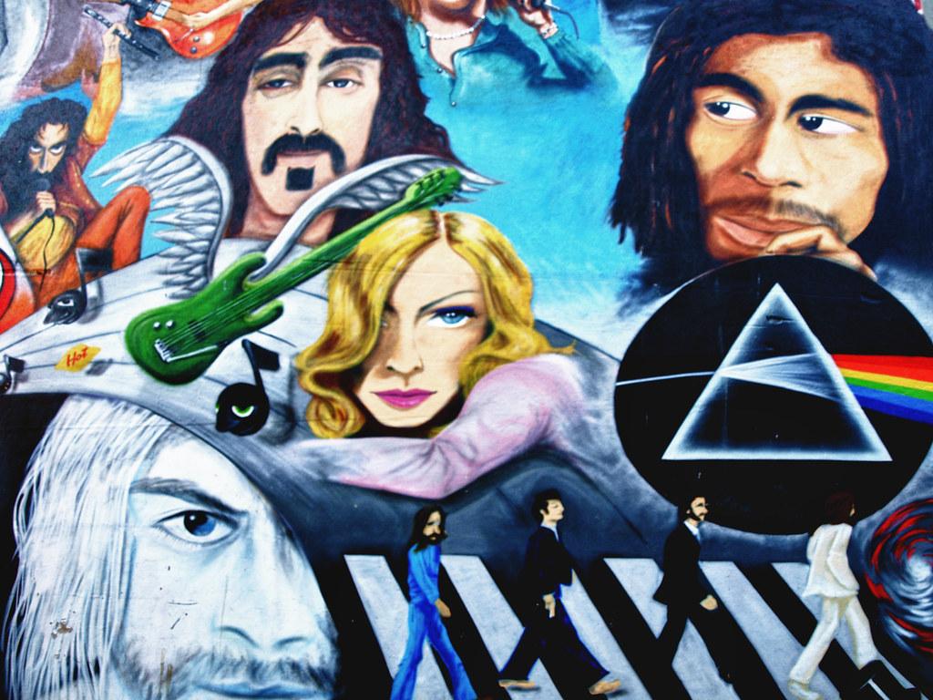 Abbey road street art in basel switzerland mural von for Abbey road mural