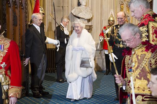HM the Queen leaves Parliament | by UK Parliament