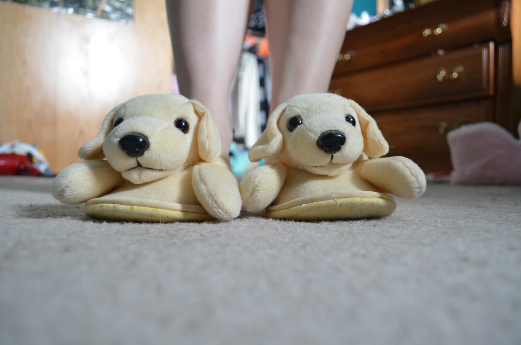 cottonelle puppy slippers holla | please credit my flickr ...