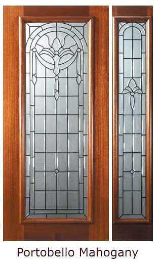 Decorative Full Glass Entry Doors : Palacio decorative glass full lite mahogany entry door tal