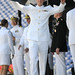 A midshipman receives his diploma during the U.S. Naval Academy Class of 2012 graduation and commissioning ceremony.