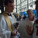 Trinity Church Chaplain Matthew Heyd listens to OWS protesters