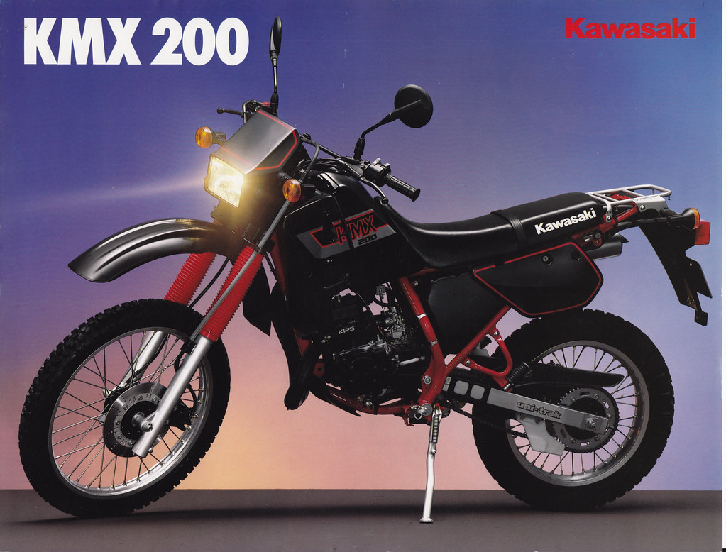 kawasaki kmx 200 this bike was really successful locally. Black Bedroom Furniture Sets. Home Design Ideas