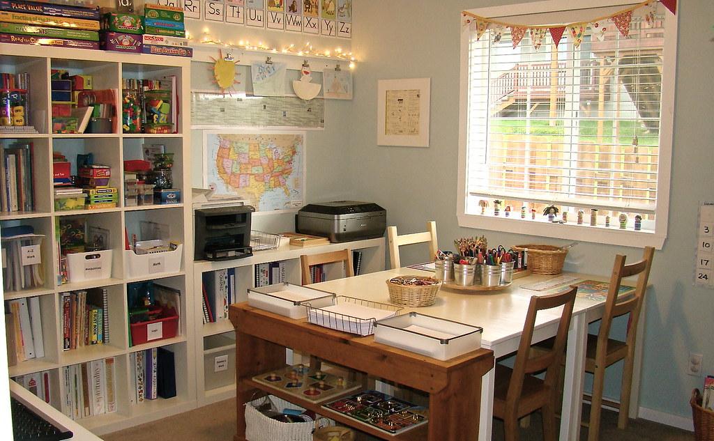 Dsc04770 homeschool room new school desks for Home school room ideas