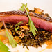 Duck breast with wild rice, bell peppers, and gooseberries, Gwynnett St