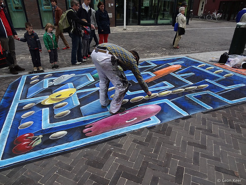 3d-chalk-art-pacman | by leon keer