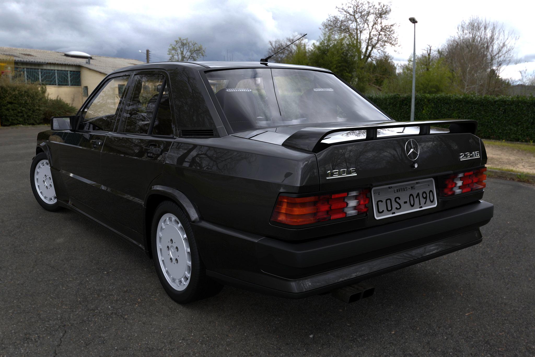 (W201): Modelo 3D - 190E 2.3-16 Cosworth 26887775491_3fc70c4dfc_k