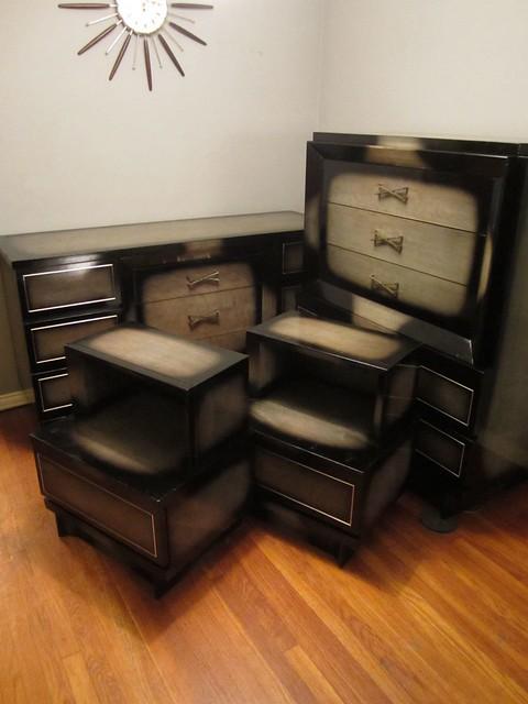 vintage american of martinsville vintage black grey bedroom set