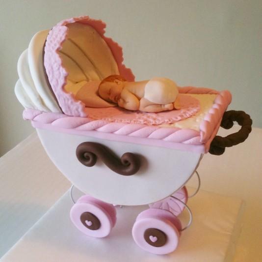 Baby Stroller Cake Topper