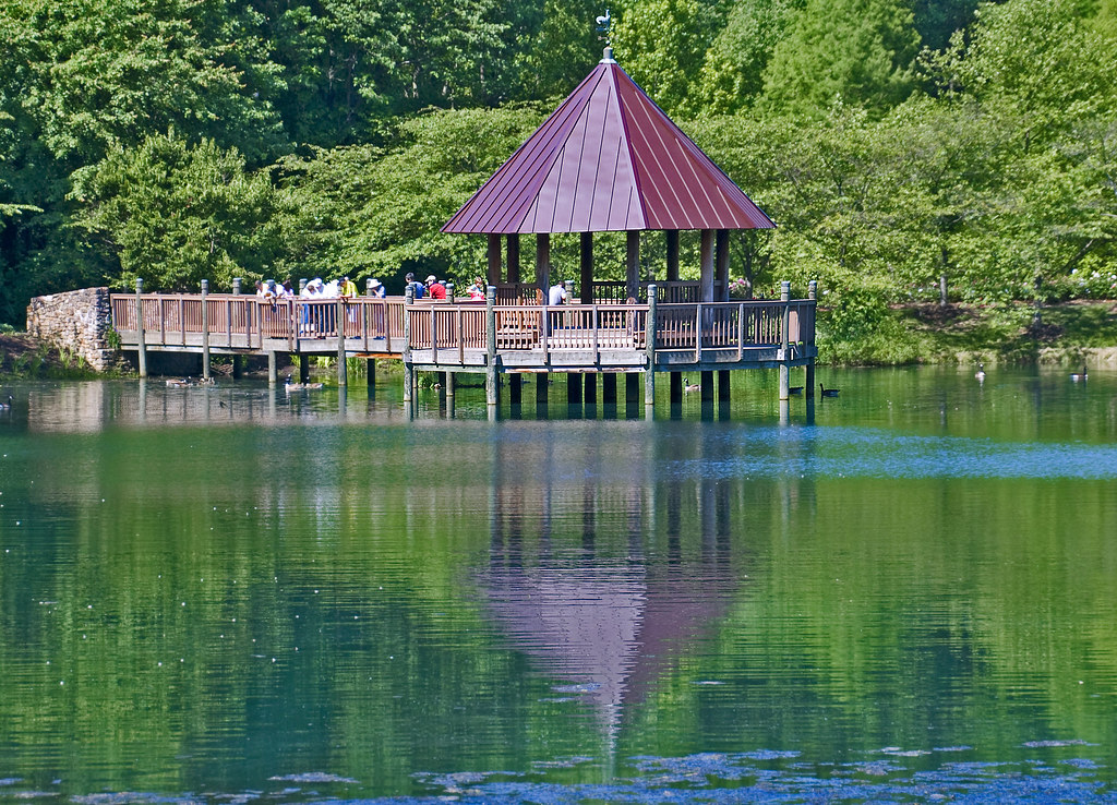 The Gazebo On Lake Caroline Meadowlark Botanical Garden
