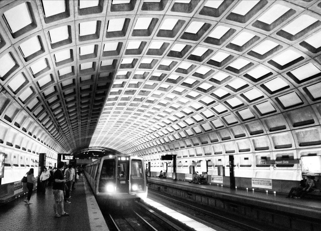 Brutalist Architecture Dc Metro Station John Leszczynski