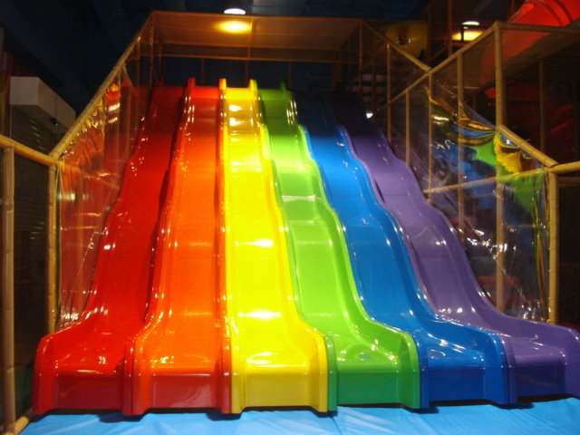 Indoor playground equipment new wave slide new 6 for Indoor play slide