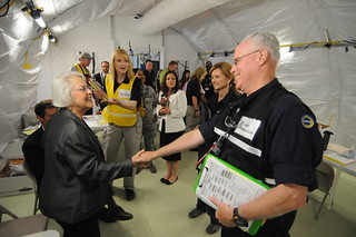 Assemblymember Bonnie Lowenthal on her tour of the MFH. | by Cal OES