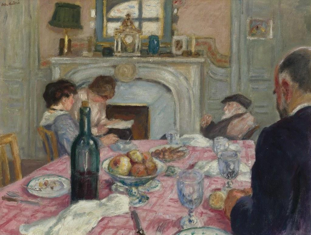 Albert Andre After Breakfast In Renoir S House 1917