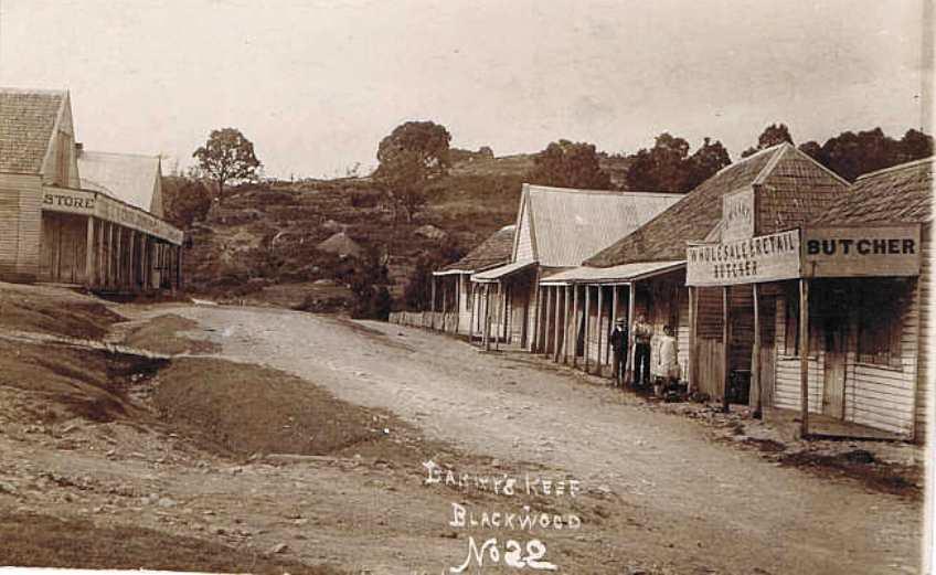 Main Street, Barry's Reef, Blackwood, Victoria - very earl ...