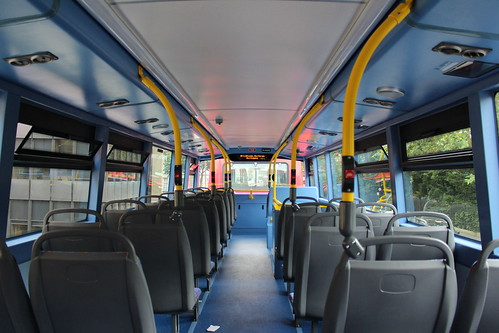 Upper Deck Interior of Metroline BYD1472