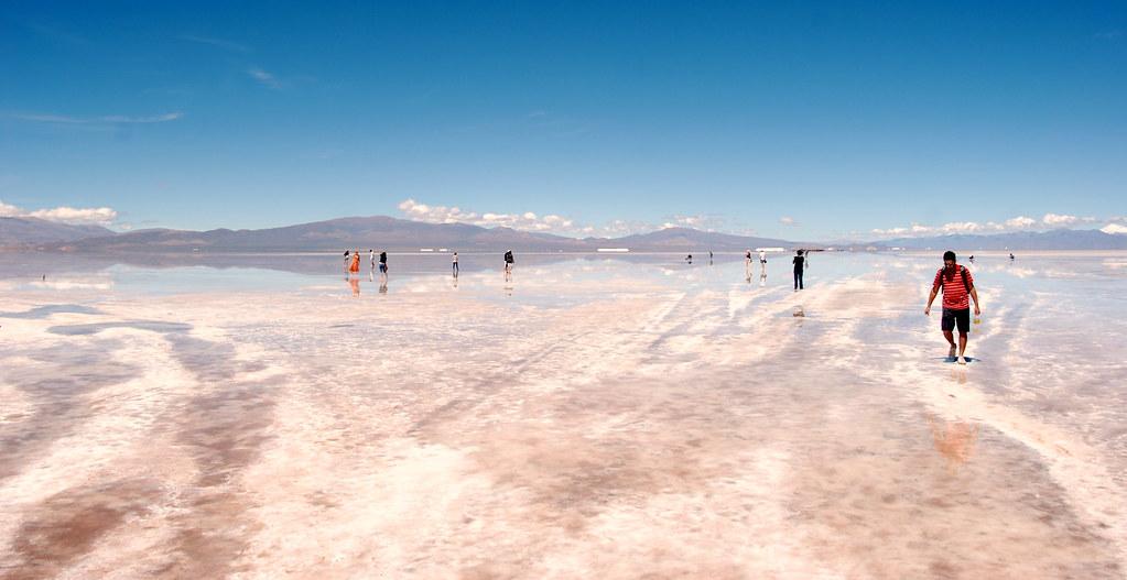 Un desierto en Argentina donde tomar baños de sal